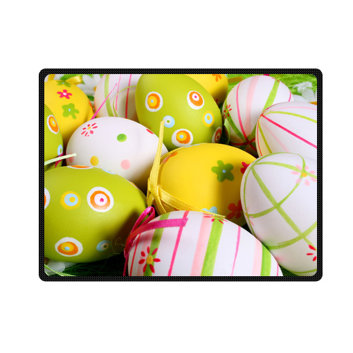 painted easter egg bedding throw fleece blanket