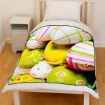 painted easter egg bedding throw fleece blanket