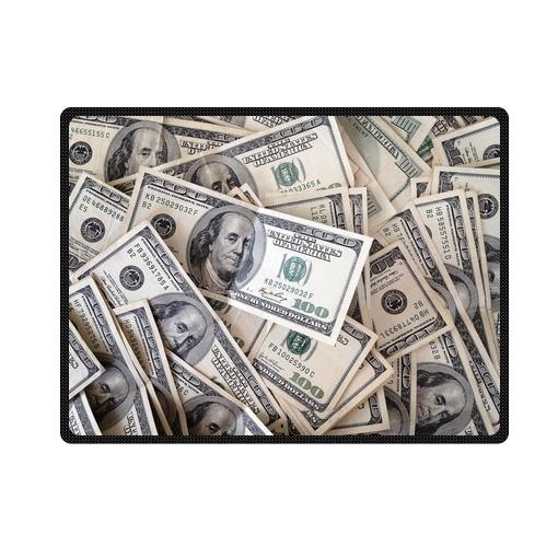 pile of one hundred dollar bills bedding throw fleece blanket