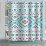 aztec tribal pattern shower curtain