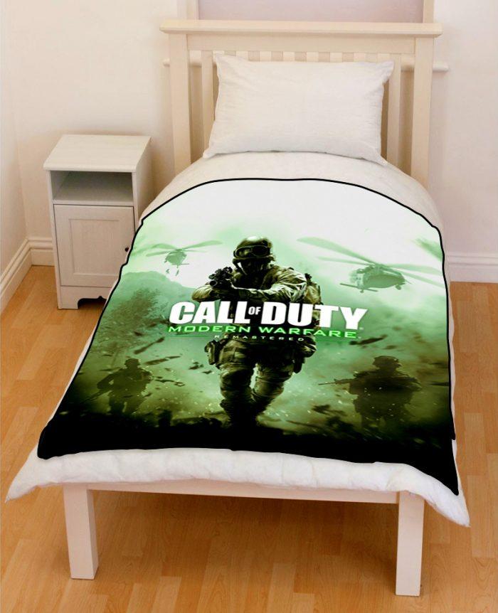 Call Of Duty Modern Warfare Bedding Throw Fleece Blanket Creativgoods