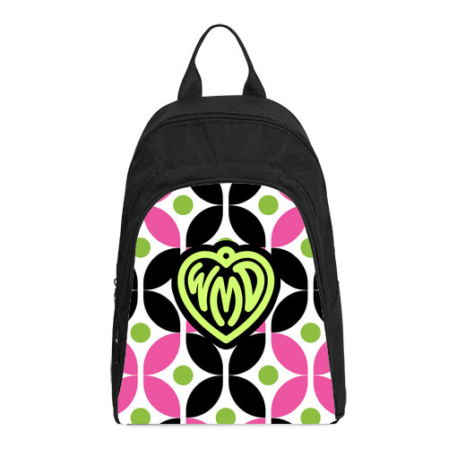 monogram cirque pink black casual backpack