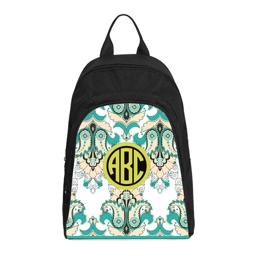 monogram floral oriental casual backpack
