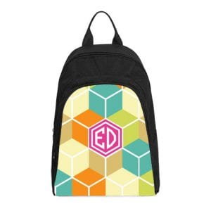 monogram geometric casual backpack