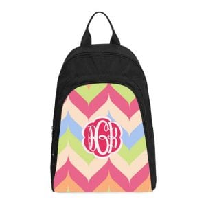 monogram rainbow casual backpack