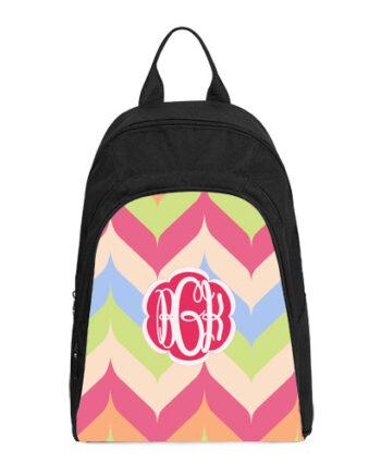 monogram rainbow casual backpack