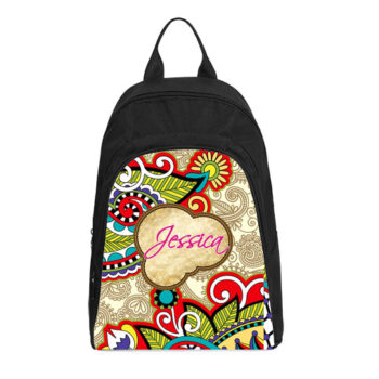 personalized vintage paisley casual backpack