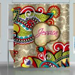 vintage floral paisley shower curtain