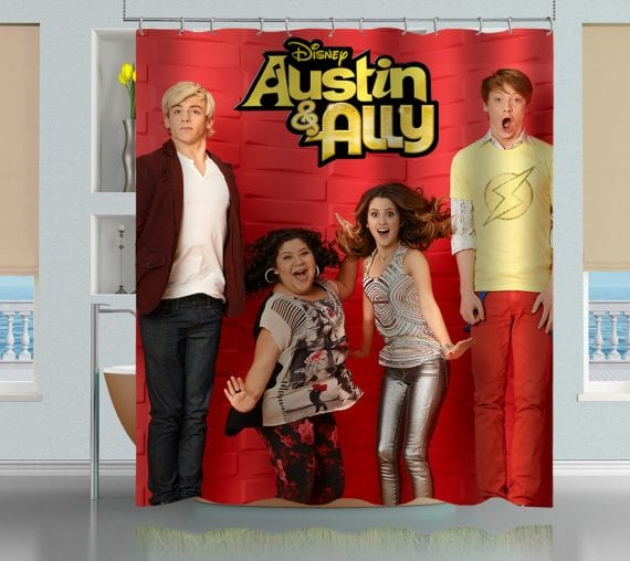 austin and ally bathroom shower curtain