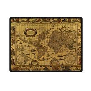 antique world map circa 1499 bedding throw fleece blanket