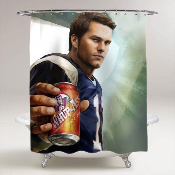 Tom Brady Whup Ass New England Patriots Bathroom Shower Curtain