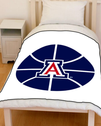 Arizona Wildcats university of arizona basketball bedding throw fleece blanket