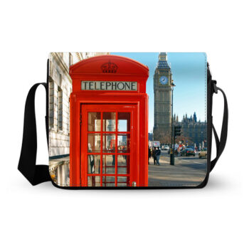london red telephone booth messenger bag