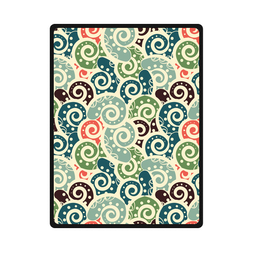 abstract colored vintage tiled paisley bedding throw fleece blanket