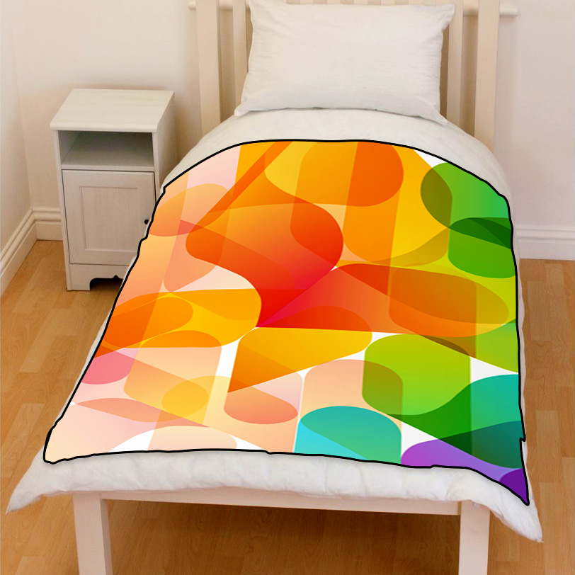 abstract background design bedding throw blanket