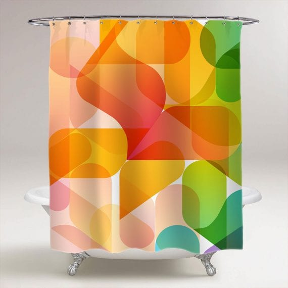 abstract background for design shower curtain