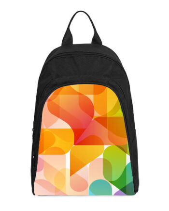 abstract background design casual backpack