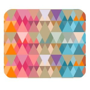 abstract triangle design mousepad