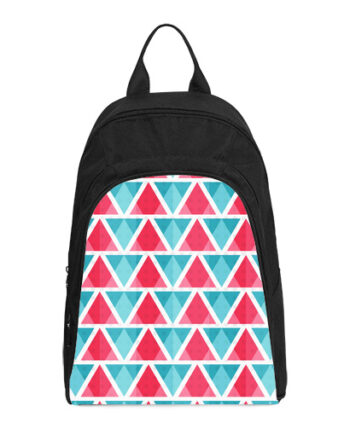 abstract colored triangles casual backpack