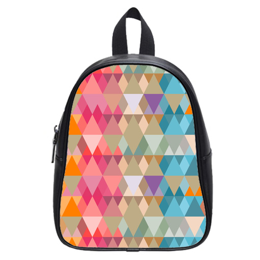 abstract background colored triangles school bag