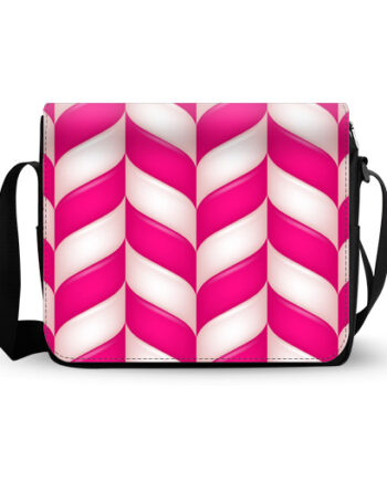 abstract candies pattern messenger bag