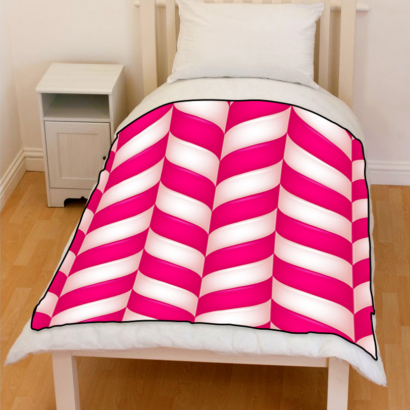 abstract candies seamless bedding throw fleece blanket