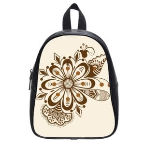 abstract floral indian mehndi school bag