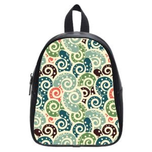 colored background tiled  paisley school bag
