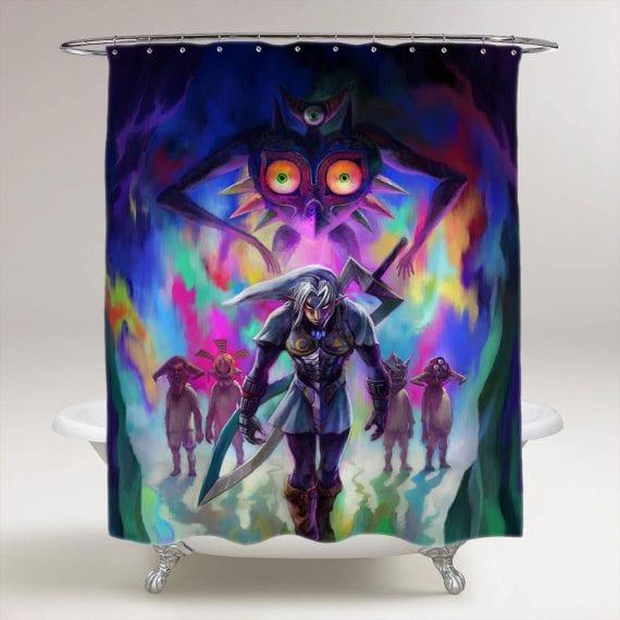 The Legend Of Zelda Majoras Mask Bathroom Shower Curtain