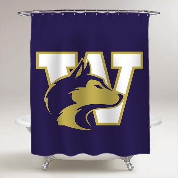 Washington Huskies NCAA College Football Bathroom Shower Curtain