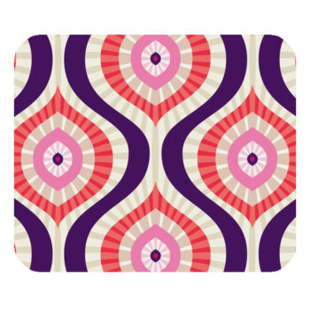 abstract design in red pink blue mousepad