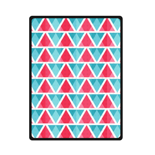 abstract bright triangles pattern bedding throw fleece blanket