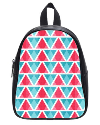 abstract bright triangles pattern school bag
