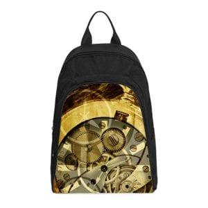 clock mechanism steampunk casual backpack