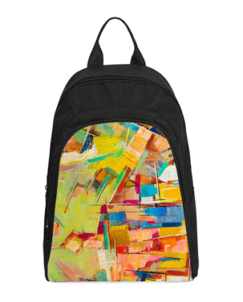 colorful oil painting on canvas casual backpack