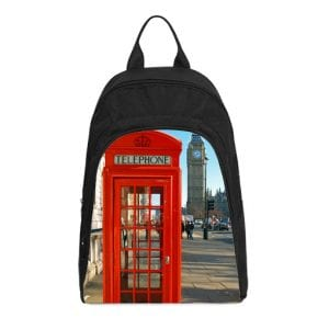 london red telephone booth casual backpack