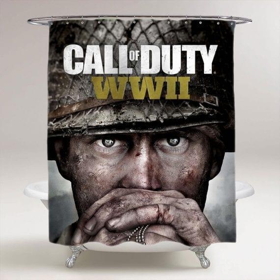Call Of Duty WWII Bathroom Shower Curtain