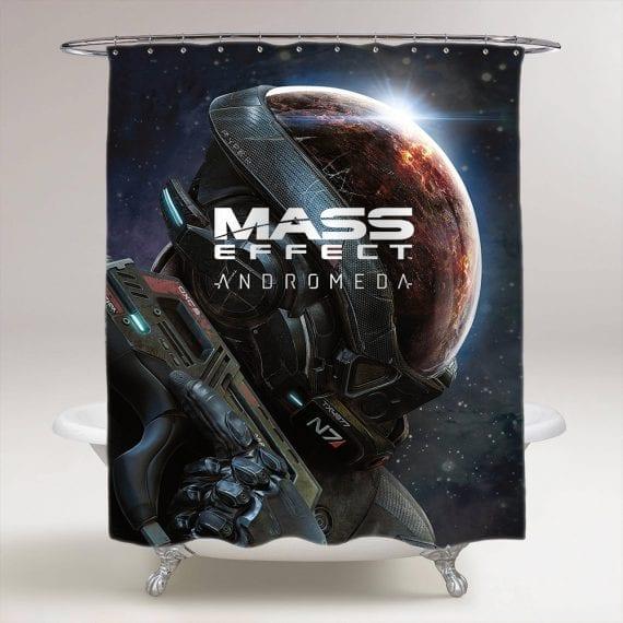 Mass Effect Andromeda Game Bathroom Shower Curtain