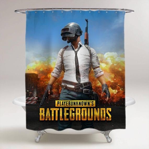PlayerUnknown's Battlegrounds Bathroom Shower Curtain
