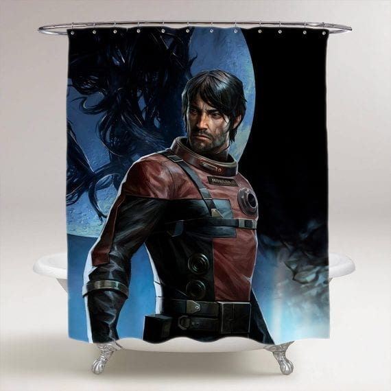 Prey First Person Shooter Bathroom Shower Curtain