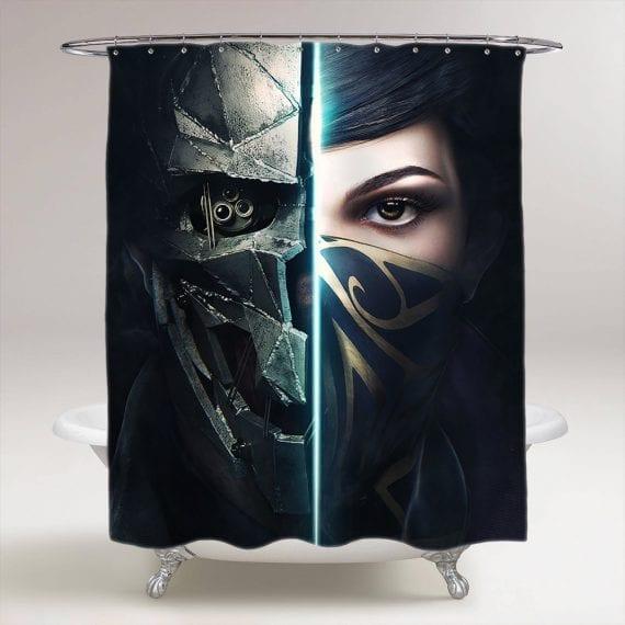 Prey Game Face Bathroom Shower Curtain