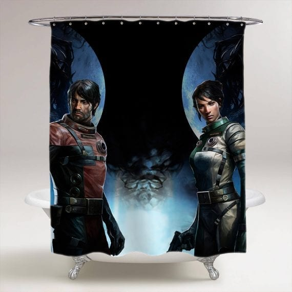 Prey Game Bathroom Shower Curtain