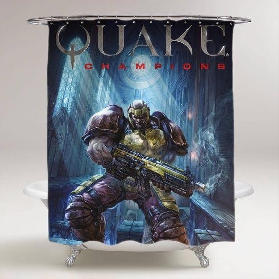 Quake Champions Flickering Myth Bathroom Shower Curtain