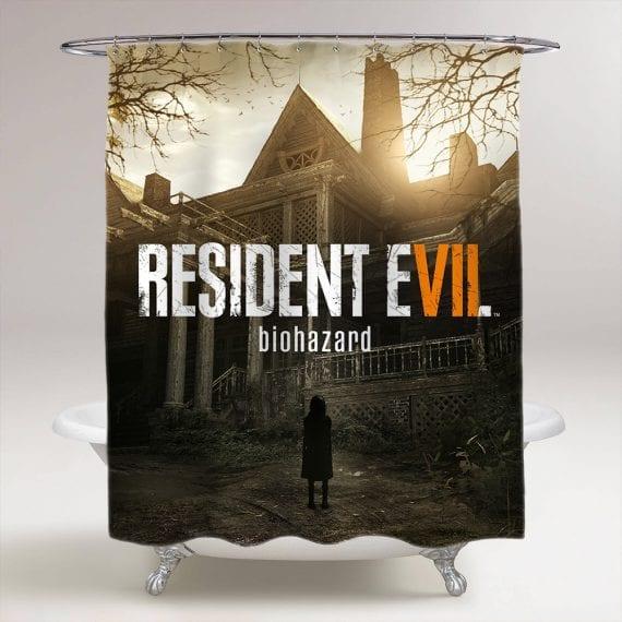 Resident Evil 7 Biohazard Bathroom Shower Curtain