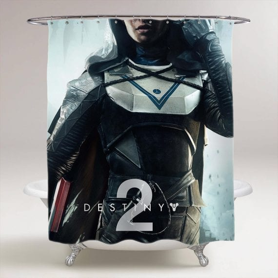 Destiny 2 Game Bathroom Shower Curtain