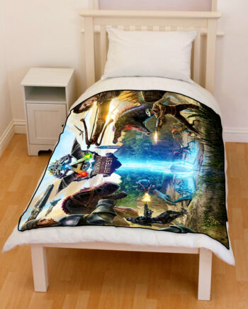 Ark Survival of The Fittest Evolved Bedding Throw Fleece Blanket