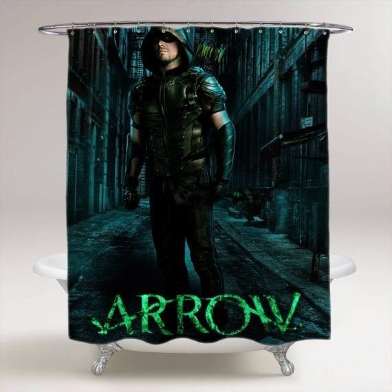 Arrow Superhero Oliver Queen Bathroom Shower Curtain