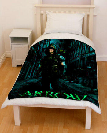 Arrow Superhero Oliver Queen Bedding Throw Fleece Blanket