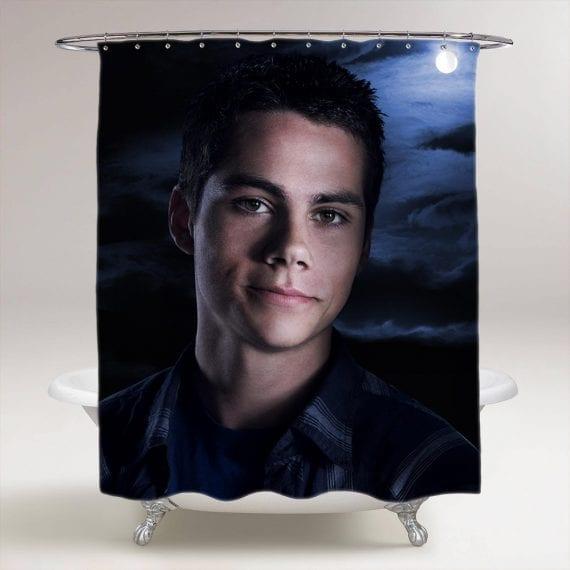 Dylan O'Brien Teen Wolf Bathroom Shower Curtain
