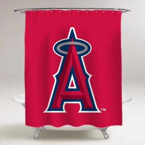 Los Angeles Angels of Anaheim Bathroom Shower Curtain